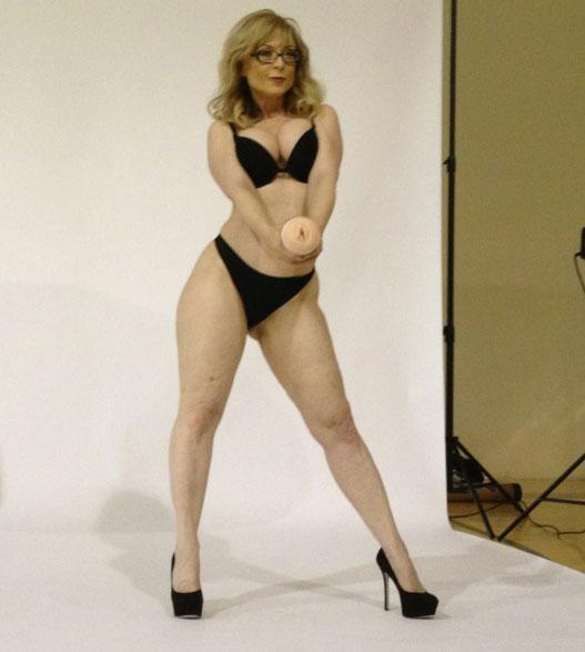 Playgirl models erect